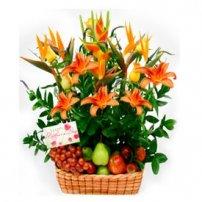 Fruit and Flowers Basket for Mom, Ecuador